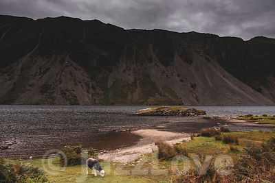 Cloudy sky over Wastwater lake.
