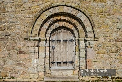 OVERTON 02B - Norman doorway, St Helen's Church