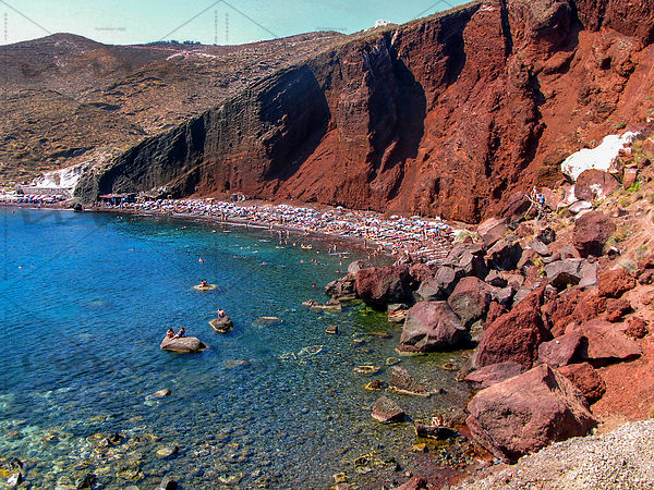 The Red beach in Santorin