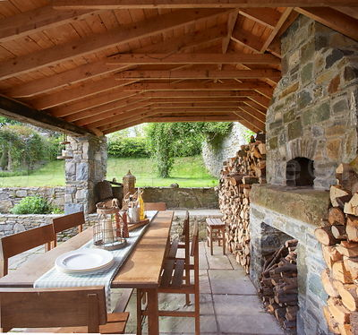 Wow.! What a fab pizza oven! In a converted barn in Co Louth....