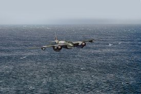 Armed reconnaissance Mosquito over the North Sea