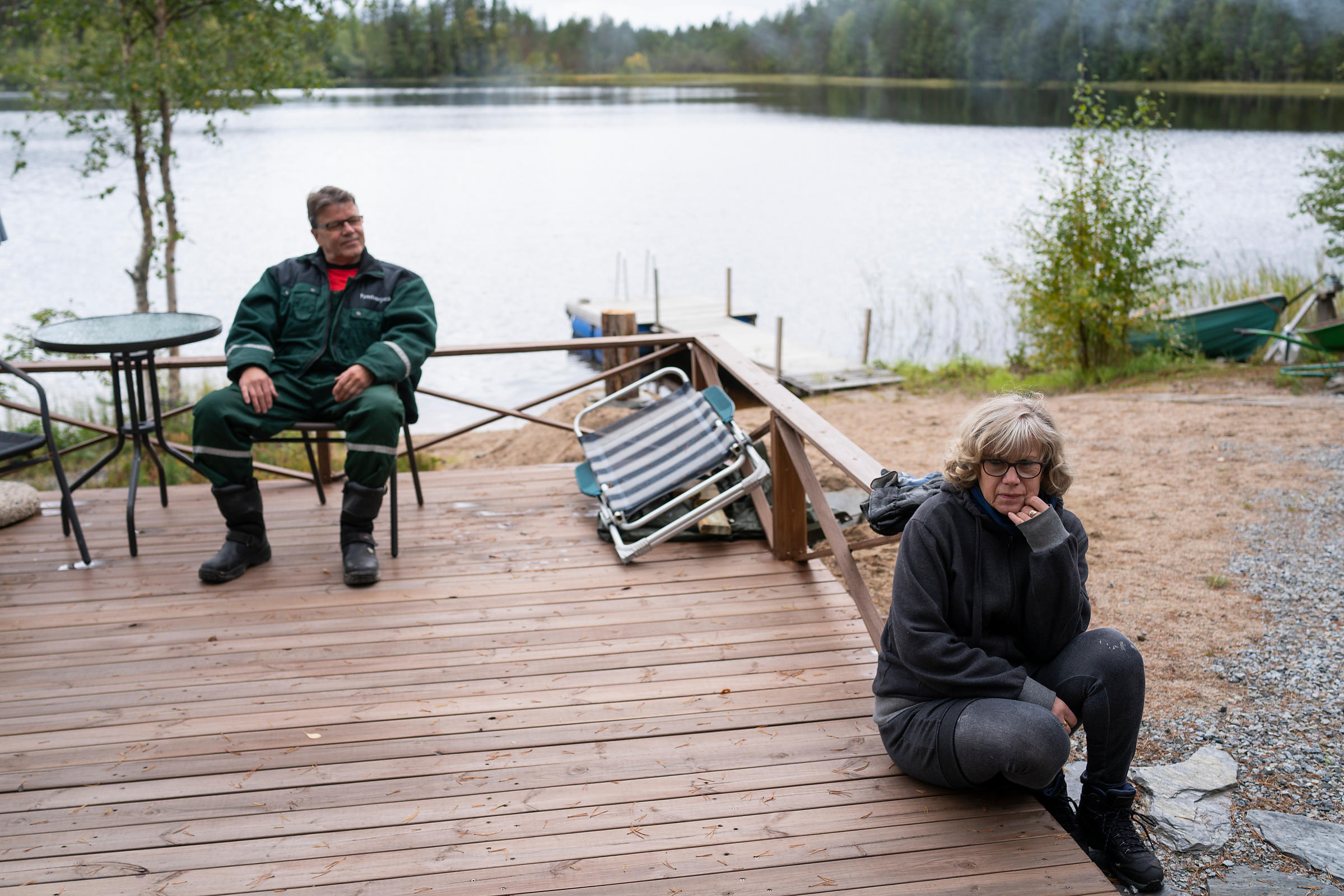 Kari and Sirkka Nahkiaisoja from Orivesi at their cottage on the shore of lake Haukinen.