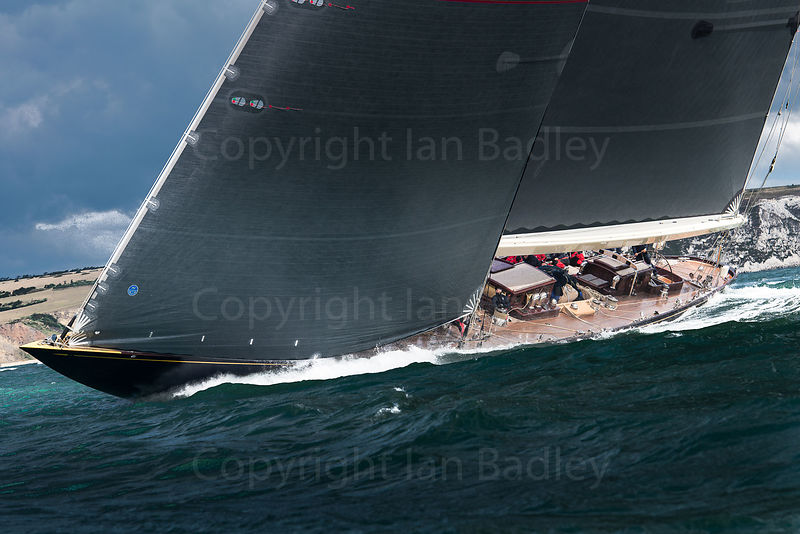 J Class Class yacht Velsheda sails off the Isle of Wight