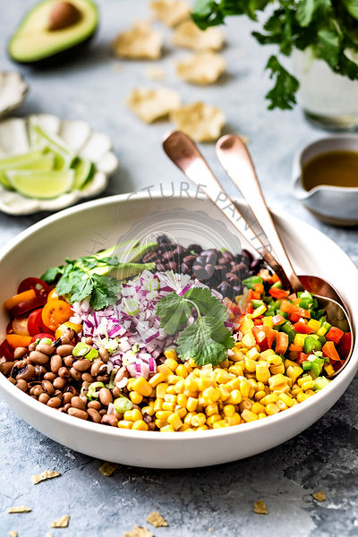 Texas Caviar Salad. A salad of black eyed peas.