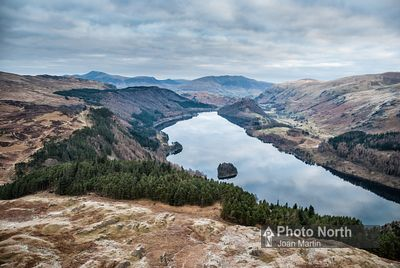 THIRLMERE 01B - Aerial view of Thirlmere