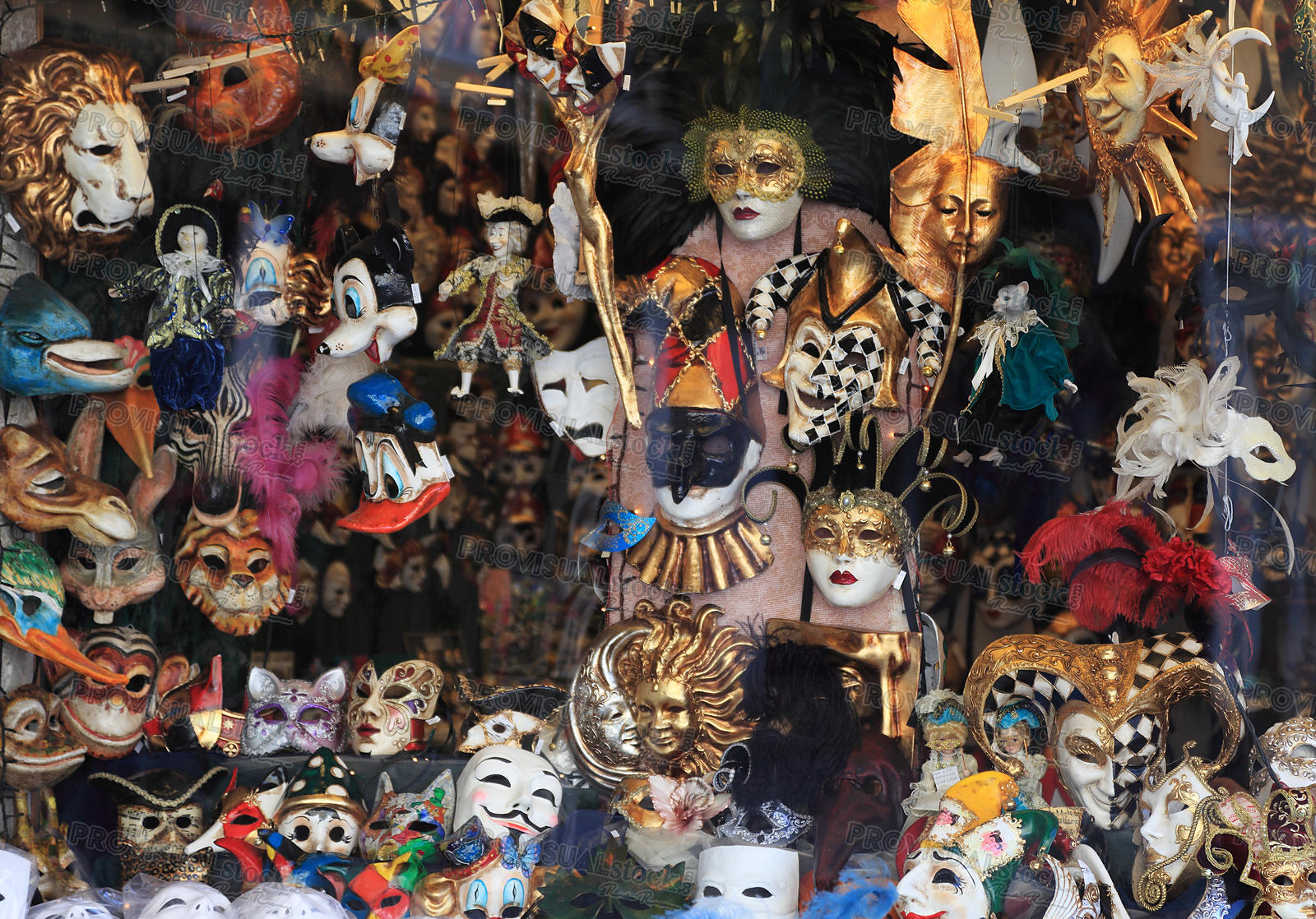 Masks shop window in Venice