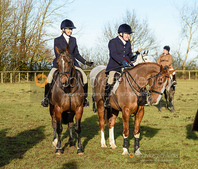 Justine Smiley-Jones at the meet. The Belvoir Hunt at Holwell 7/12