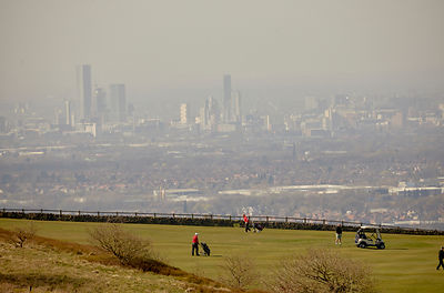 Werneth Low  golf view