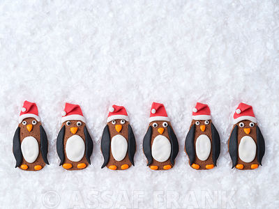 Christmas Penguins biscuits