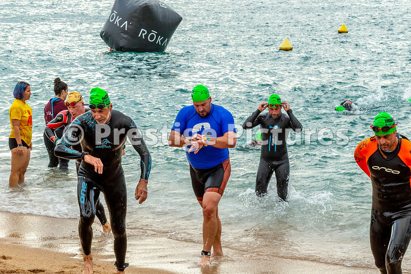 Stock photo - SWIM - Ironman Barcelona 2019.  (Larger RF sizes available at no extra cost)