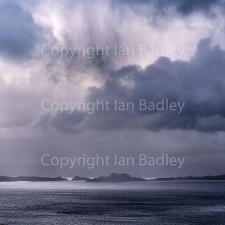Storm clouds over the Isle of Raasay.