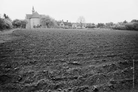 #120120,  Ploughed field, part of the farm at Ladywell Convent, Godalming, the Motherhouse of an International Catholic Relig...
