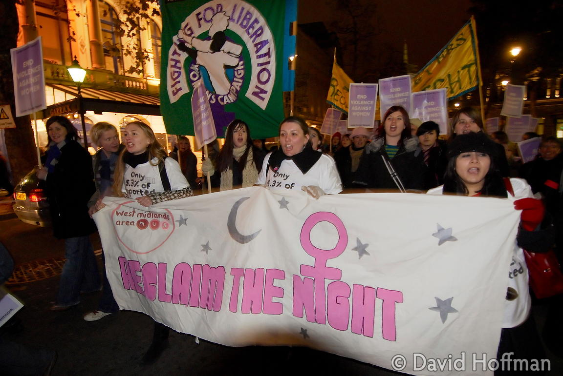 071124_ReclaimNight_184 Feminist organised 'Reclaim The Night' march and rally. London 24 November 2007.