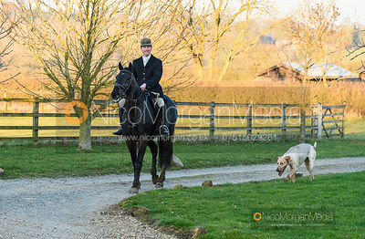 Angus Smales at end of day. The Cottesmore Hunt at Ladywood Lodge