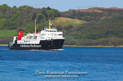 Image - The Caledonian MacBrayne Ferry, the Hebridean Isles, nearing Kennacraig, Scotland