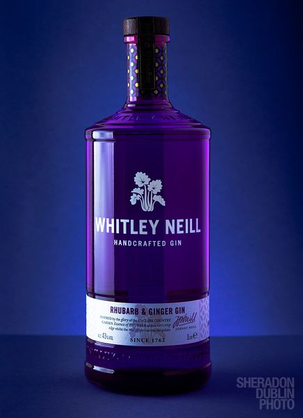Whitley Neill Gin Bottle Product Photography