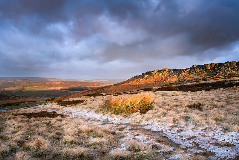Winter sunrise at Stanage