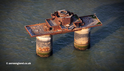 Knock John Sea Fort,  Maunsell Sea Fort aerial photograph