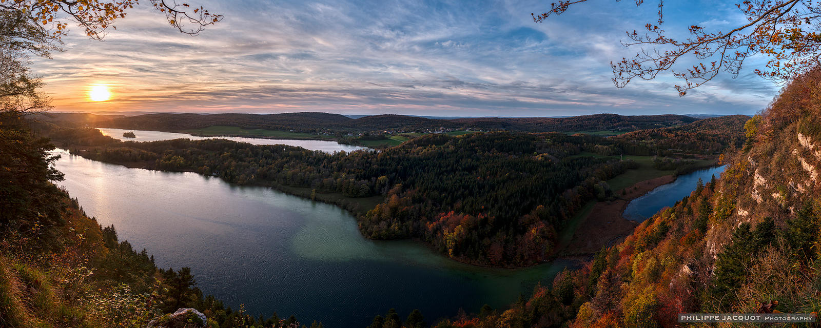 Sunset at the 4 lakes - Chaux du Dombief - Jura - France