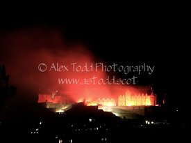 Fireworks are set off from Edinburgh Castle at the end of the Edinburgh International Festival