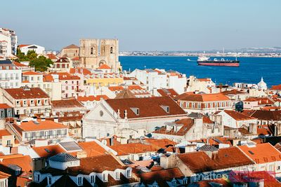 Alfama district and cathedral, Lisbon, Portugal