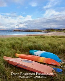 Image - Kayaks in the dunes at Mellon Udrigle beach, Gruinard Bay, Wester Ross, Highland, Scotland