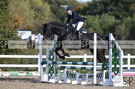 Stapleford Abbotts. United Kingdom. 25 October 2020. Unaffiliated showjumping. MANDATORY Credit Garry Bowden/Sport in Picture...