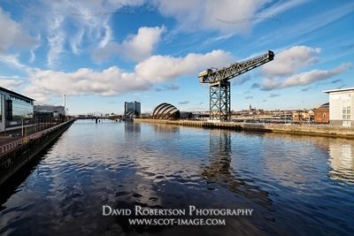 Image - View along the River Clyde, Glasgow, Scotland