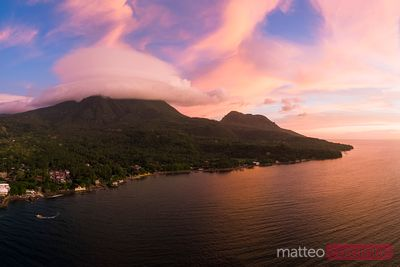 Sunset over the island of Camiguin, Philippines