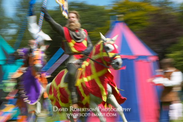 Image - Knights at a historical re-enactment of a jousting tournament