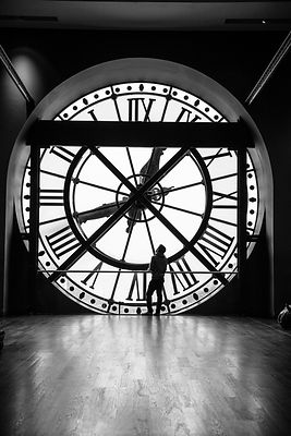 Meeting at the Clock No.1:   Paris 2016   Photographer Neil Emmerson  £975 inc uk vat:   Edition of 25