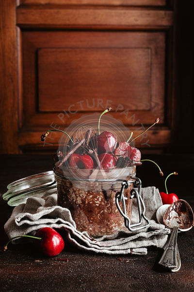 Black forest overnight oatmeal