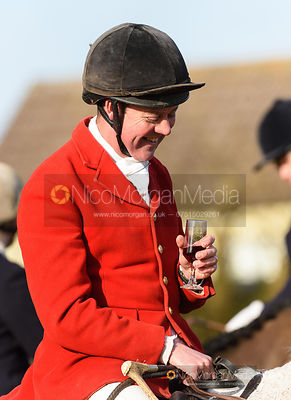 Tom Kingston at the meet. The Belvoir Hunt at Stonesby 5/2