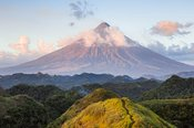 Sunset over Mayon volcano, Albay, Philippines