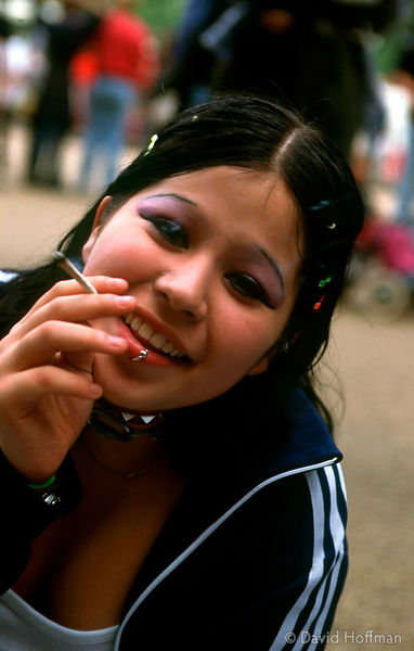 girl smokes joint 2