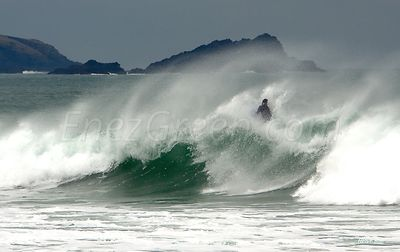 Surfer at Newquay Cornwall