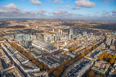 Aerial view of Paddington central, Paddington Rail Station, Paddington, London.