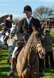 Johnny Greenall at the meet. The Pytchley Hounds visit the Cottesmore at Town Park Farm 15/1
