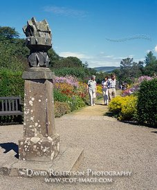 Image - Culzean Castle garden and sundial, Ayrshire, Scotland