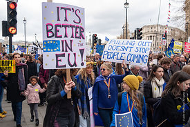 #124602,  Anti-Brexit march to Parliament Square, London, 23rd March 2019.  A million people of all ages marched demanding a ...