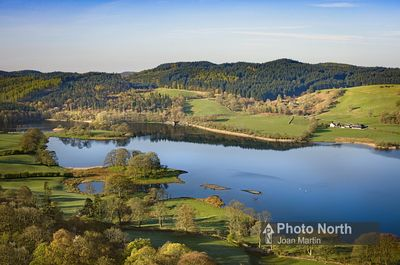 NEAR SAWREY 21A - Aerial view of Esthwaite Water
