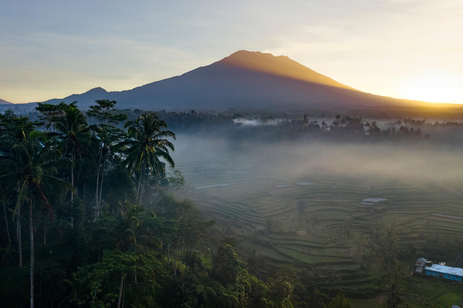 First Light over Bali
