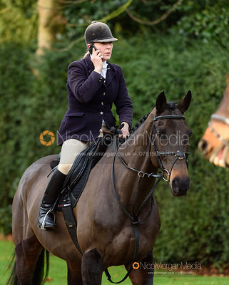 Alice Barnard at the meet. The Cottesmore Hunt at Pickwell 31/12