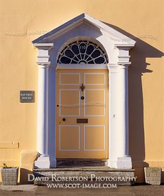 Image - Doorway with portico and fanlight, Kirkcudbright, Scotland