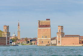 Entrance to the Arsenale in Venice, Italy.