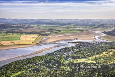 ARNSIDE 10B - Aerial view of Arnside and the Kent Estuary