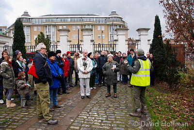 Conducted tree identification walk in Abney park cemetery, Stoke Newington London
