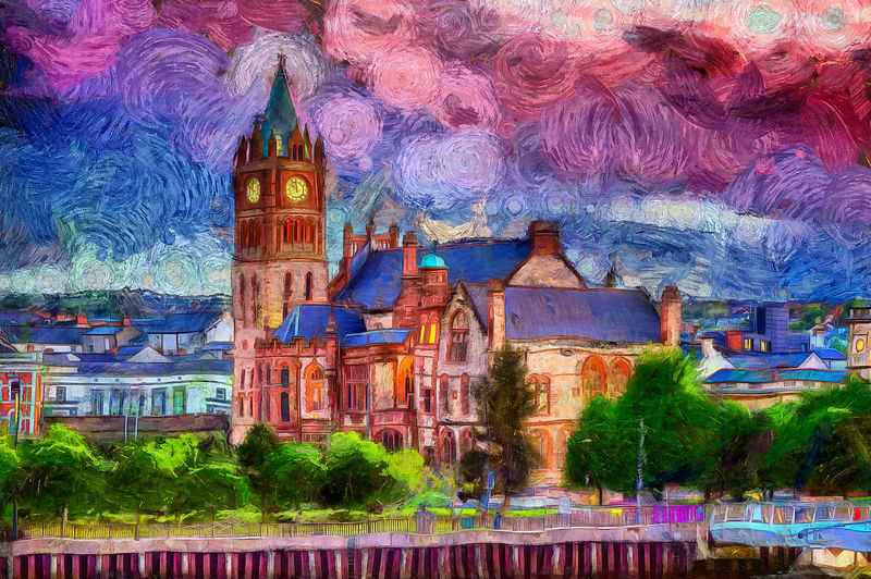Purple Haze Guildhall Painting