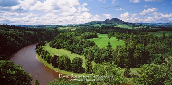 Image - Eildon Hills, Panoramic from Scott's View, Scotland