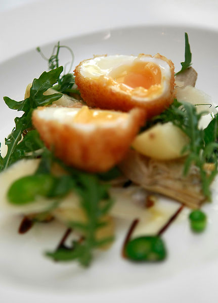 7 dishes created by Chef Lee Scott. .Pictured is French Poached Egg and Mackerel. .Picture by Damien Maguire